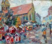 Flensburger Weihnachtsmarkt im Regen, 2019