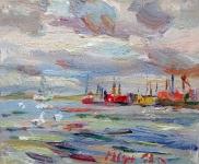 Heiligenhafen, Blick aufs Wasser, 2019