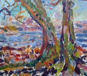 Baum am Strand, 2021
