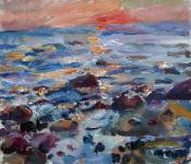Sonnenaufgang über der Ostsee, 2021
